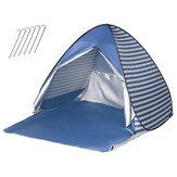 campeggio tenda da spiaggia impermeabile a prova di raggi UV per ombrellone per 2 persone riparo automatico portatile pieghevole tenda