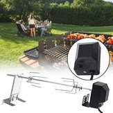 4W BBQ Grill Stainless Steel Rotisserie Split Roaster Rod Charcoal Barbecue Pig Chicken Motor Kit Camping Picnic