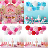 9Pcs/set Pom Pom Tissue Paper Flower Balls Wedding Birthday Party Shower Decorations