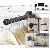 Wall Mounted Toilet Towel Industrial Iron Pipe Holder DIY Rack Shelf Support Frame