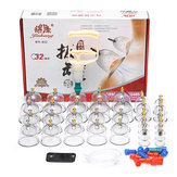 32pcs Chinese Cupping Vacuum Cup Massage Set Therapy Health Acupuncture Kit