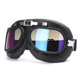 Windproof Retro Helmet Goggles Motorcycle Skiing Scooter ATV Flying Eyewear Glasses