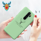 Dla Xiaomi Redmi Note 8 Pro Pokrywa Bakeey Deer Pattern Odporny na wstrząsy Soft Gumowy płynny silikon Pro