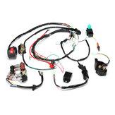 Conjunto completo elétrico das cablagens da bobina de ignição de 50cc 70cc 90cc 110cc 125cc ATV