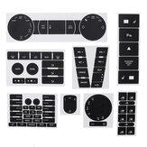 Decalcomanie per adesivi per kit di riparazione pulsante indossato nero opaco per VW Volkswagen Touareg 2004–2009