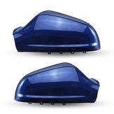 Links / rechts auto achteruitkijkspiegel afdekkap glanzend blauw voor Opel Vauxhall Astra MK5 2010-2013