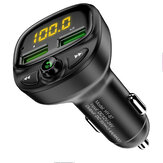 FLOVEME QC3.0 3A Digital Display Wireless bluetooth Fm Transmitter Fast Charging USB Car Charger For iPhone X XR XS Huawei P30 S10+ Note 10