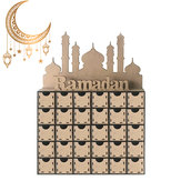 ラマダンアドベントカレンダーDIYハウス引き出し30グリッドMDFスタンドラック装飾