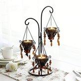 Suportedecastiçaldevelade cristal criativo romântico à luz de velas para celebração de aniversário de casamento decoração de mesa em casa