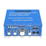 مركبتي بلوتوث صوت القوة مكبر للصوت AMP Supporyt راديو FM SD بطاقة USB ميكروفون إدخال 300Wx2 12V 110V للسيارة الرئيسية
