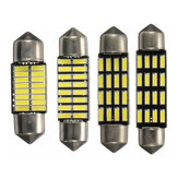 2PCS 31mm/36mm/39mm/42mm 4014 SMD LED Car Interior Reading Lights Festoon Dome Bulbs CANBUS Error Free White
