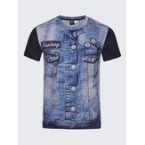 Fashion Creative 3D Denim Jacket Printed T-Shirts