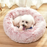 Pet Dog Cat Calming Bed Round Nest Warm Soft Peluche Dormir Lit Donut Coussin