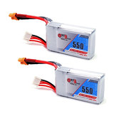 2Pcs Gaoneng GNB 11.1V 550mAh 80/160C 3S Lipo Battery XT30 Plug For Eachine Lizard95 FPV Racer