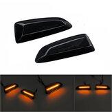 Dinamik Akan LED Yan Işaretleyici Işıkları Dönüş Göstergesi Tekrarlayıcı Lamba Amber Opel Vauxhall Astra JK Insignia Için