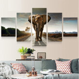 5pcs Large Abstract Elephant Print Art Picture Home Wall Decor Paintings Unframed For Room Decorations