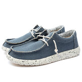 Men Canvas Casual Weave Soft Mocassins à Semelle