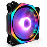 Coolmoon 120mm Adjustable RGB LED Light CPU Cooling Fan Mute Octagon Computer PC Case Cooling Fan