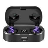 X36 display digital bluetooth 5.0 Fones de ouvido touch grande capacidade TWS esportes fone de ouvido estéreo sem fio com banco de potência 2600 mah