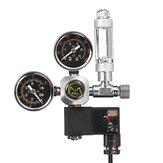 Sistema acquario Regolatori di pressione CO2 a doppio calibro Elettrovalvola contabollicine