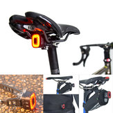 ENFITNIX 30LM COB LED Intelligent المستشعر Brake ضوء 30H عامل وقت Bike Tail ضوء USB Road Bike Bike Rear Lamp Lamp