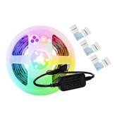 GLEDOPTO DC5V 2M USB RGB+CCT Smart TV Computer LED Strip Light + 3PCS Connectors for Zigbee Hue Echo