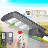 Solar Street Light 96/144LED Wall Lamp Light+Radar Sensor Remote Controller