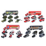 7 Pcs Alloy Diecast Truck Car Model Set Toy Vehicle for Kids Christmas Gift