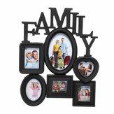 Suspensão de parede de quadro de foto de família 6 fotos suporte de memória exibir decorações para casa