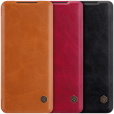 NILLKIN Flip Shockproof with Card Slot Holder Full Cover PU Leather Vintage Protective Case for Samsung Galaxy S20+ 5G