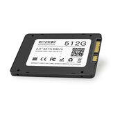 BlitzWolf® BW-SSD3 512GB 2.5 Inch SATA3 6Gbps Solid State Disk TLC Chip Internal Hard Drive for SATA PCs and Laptops with R/ W at 530/450 MB/ s