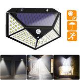 100 LED Солнечная с питанием от PIR Motion Датчик Уличный настенный светильник На открытом воздухе Безопасность Лампа