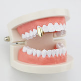 Vampire Dog Teeth Geometric Gold Plated Grillz Jewelry