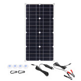 100W 18V Mono Solar Panel USB 12V / 5V DC Monocristalino Flexible Solar Cargador para Coche RV barco Batería Cargador Impermeable