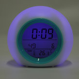 Colorful Electronic Desk Alarm Clock without Natural Sound Glowing Spherical Children's Pat Night Light