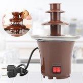 मिनी चॉकलेट फव्वारा तीन परतें क्रिएटिव चॉकलेट को गर्म करने के शौकीन मशीन के साथ पिघलते हुए पानी प