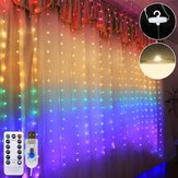 1.5M*2M Waterproof USB LED Rainbow Curtain String Light With Remote Control for Indoor Outdoor Wedding Party