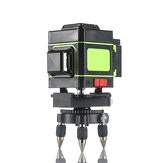 12 Greeen Lines Laser Level Measuring DevicesLine 360 Degree Rotary Horizontal And Vertical Cross Laser Level  with Base