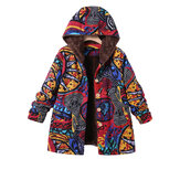Casual Printed Hooded Jackets