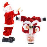 Noel Baş aşağı Sokak Dans Takla Noel Baba Elektrikli Müzik Oyuncaklar