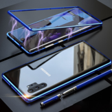 Bakeey Plating Magnetic Adsorption Metal Tempered Glass Protective Case For Samsung Galaxy Note 10 Plus/Note 10+ 5G