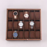 6/12/18 Slots Wooden Watch Display Tray Collection Storage Case Organizer Box