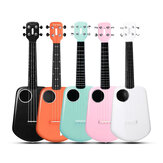 Populele 2 23 Inch Carbon Fiber USB Smart Ukulele APP Control Bluetooth 4.0 With Led Lamp Beads