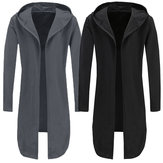 Herren Full Sleeve Mantel Poncho Trenchcoat Jacke Outwear Mantel Cape Strickjacke