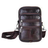 7inch Men Leather Waist Bolsa Multifuncional Crossbody Messenger Bolsa Bolsa para teléfono