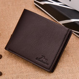 Men Casual Faux Leather Wallet Short Leisure Wallet Card Hol