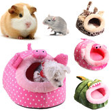 Small Animal Pet Bed Cave Warm Nest House For Hamster Guinea Pig Squirrel