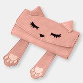 女性ファッションかわいい猫小さなハンドバッグロング財布財布