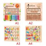 Math Toys Alphabet Numérique En Bois Apprentissage Arithmétique Labyrinthe Correspondant Conseil Développement Du Cerveau Jouets pour Enfants