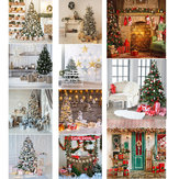 8x8FT 10x10FT Vinil Árvore de Natal Inverno Neve Presente Fotografia Backdrop Background Studio Prop